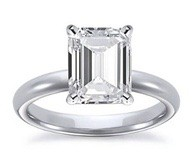 Princess Plat Solitaire Diamond Engagement Ring