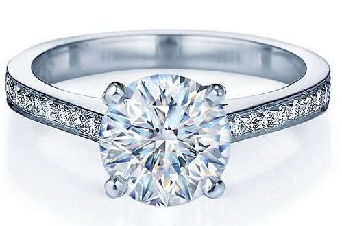Round Diamond Engagement Ring with Full Shank