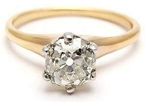 Yellow Gold European Solitaire Diamond Engagement Ring